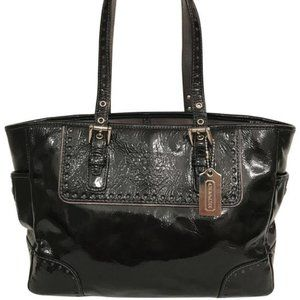 COACH Gallery Crinkled Patent Leather Tote